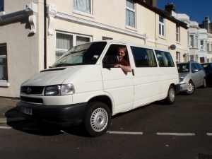 Picking up the van from Hastings