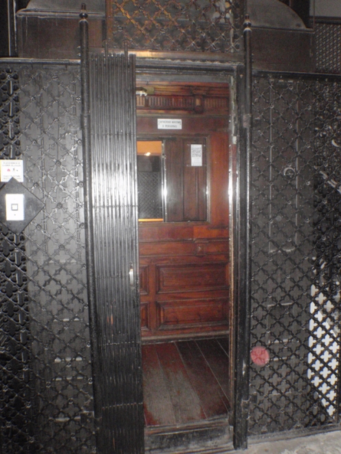 Lovely old wood panelled lift to our apartment - a bit of a squeeze with our luggage when we left!