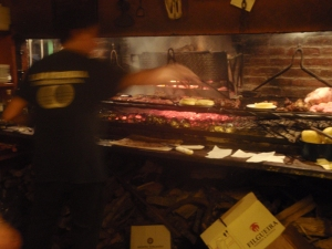 Meat, meat, meat - a classic parilla (grill)