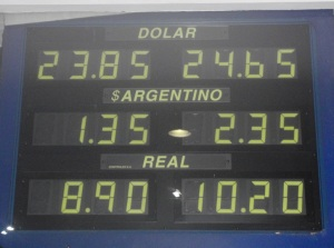 Remarkable buy sell spread on the Argentinian peso