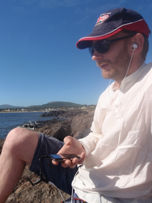 The Spanish study continues - audio lessons at the beach