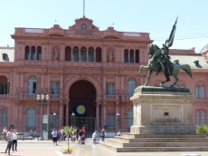 The government building - the Casa Rosada