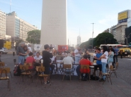 A chess competition in front of the Obelisk