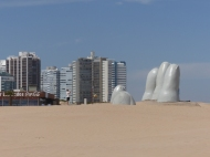 The hand at Punta del Este, Uruguay - the obligatory overlanders stopping point, as there's another one on the Chilean side of the continent - watch this space!
