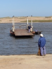 Our first little ferry crossing, across Laguna Garzon, route 10, in Uruguay ...