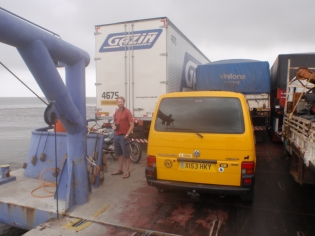 .. where we jumped the queue of lorries to fill a small van sized space left at the back