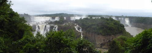Despite still being grey and overcast, the Falls were awe inspiring to see...