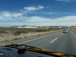 More long, straight, hot roads - although not quite so hot now as we get further south