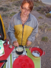 A rare evening when the wind allowed us to cook outside