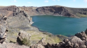 And some magical crater lakes - this one made another interesting camping spot