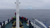 Nearly two days later, we spot our first iceberg