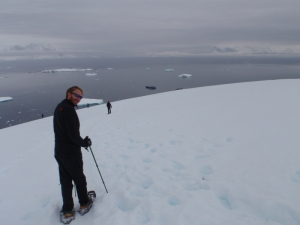 We snow shoed to the top of Cuverville Is. for some great views