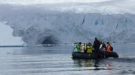 "Taking a closer look at a glacier ""calving"" into the sea"
