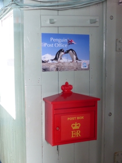 And as a post office for sending cards (via the Falklands) from Antarctica - a popular service! They'll also put an Antarctica stamp in your passport.