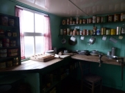 The kitchen as it was in the 1950s for those working on the base