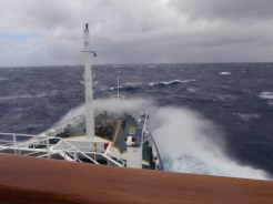 Slightly rougher seas for the return journey