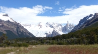 We got one clear view of Cerro Torre before the clouds came in