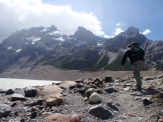 And the wind down the valley, off the glacier, was so strong we simply weren't able to go any further!