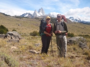 Starting out on a day walk for a closer look under the shadow of Fitz Roy