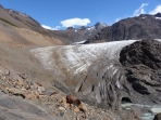 Our next obstacle - a walk across the end of glacier Río Túnel