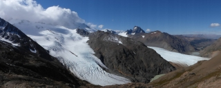 And stunning views of the two glaciers into the valley we came up through