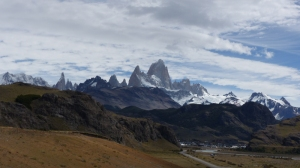 El Chalten nestling below the dramatic parks of the Fitz Roy and Cerro Torre ranges