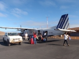 and unloading the plane - not your usual airport experience!