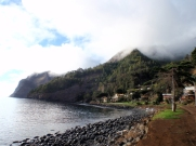 For much of our stay, the island was shrouded in cloud