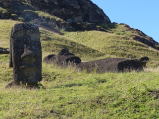 The tribe in whose land the quarry lay produced and traded carved Moai in return for food etc from the tribes that had land for agriculture or access to good fishing areas