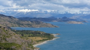 Southern shore of Lago General Carrera on the way to joining the Carretera Austral