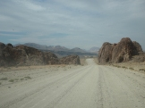 The road through the Patagonian desert to the climbing destination of Piedra Parada