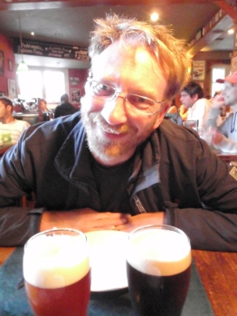… and drink! Bruce is delighted to find beer as bitter as proper English beer.