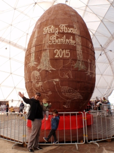 Each year, the chocolate makers of Bariloche team up to make the world's largest Easter Egg for the annual chocolate festival