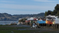 Palafito (stilt) houses on the outskirts of Castro, the capital of Chiloe