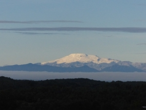 One of the mainland volcanoes seen from Chiloe