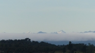 When the rain and clouds lifted, we got tantalising sight of the volcanos on the mainland