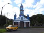 Chiloe is known for its architecture, particularly the colourful wooden churches