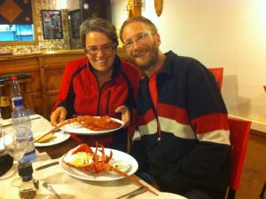 We ate more crab and lobster that week than we would probably normally  get in a year!