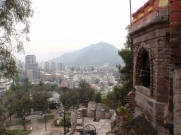 This canon on Cerro Santa Lucia, the hill in the centre where the city was founded, is fired at midday everyday