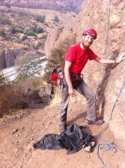 Climbing at Las Chilcas - just above the major Ruta 5