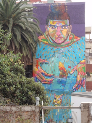 The old city is covered in colourful street art