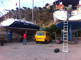 A the yacht club at Concón to see if a technician could help get our van heater working