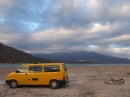 Parked for the night by Lago Potrerillos