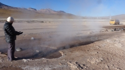 We enjoyed looking at the different sorts of pools - steam jets, hot pools and...