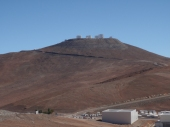 The European Space Agency VLT (Very Large Telescope) complex at the top of Cerro Paranal