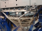 The mirror at the heart of the telescope is 8m in diameter, but uses only 11g of aluminium!
