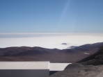The site is only 20km from the coast, but on a peak 2,600m up - you could see the layer of cloud that covers the coast and how the mountains form the barrier stopping the Atacama Desert getting much water.