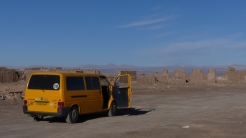 On the road between Antofagasta and San Pedro are the evocative ruins of an abandoned mining town