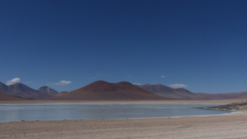 The first of a series of lakes, Laguna Verde