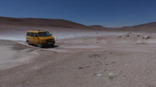 Driving through the Sol de Manaña